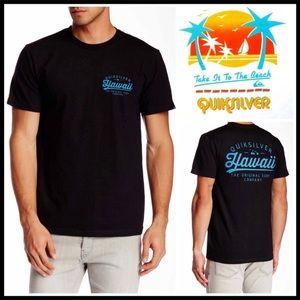 QUICKSILVER BLACK HAWAII UNISEX TEE Premium Line